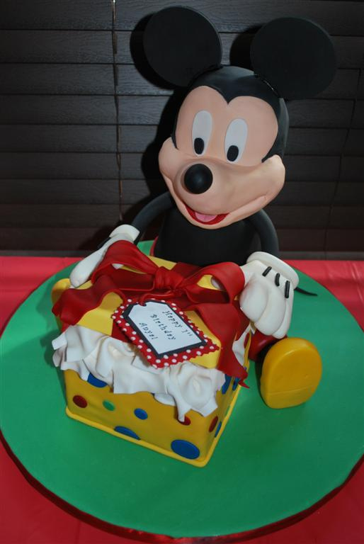 Mickey Mouse Birthday Present Cake