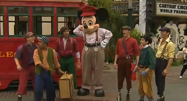 Mickey Mouse and the Red Car News Boys Perform A Suitcase and a Dream