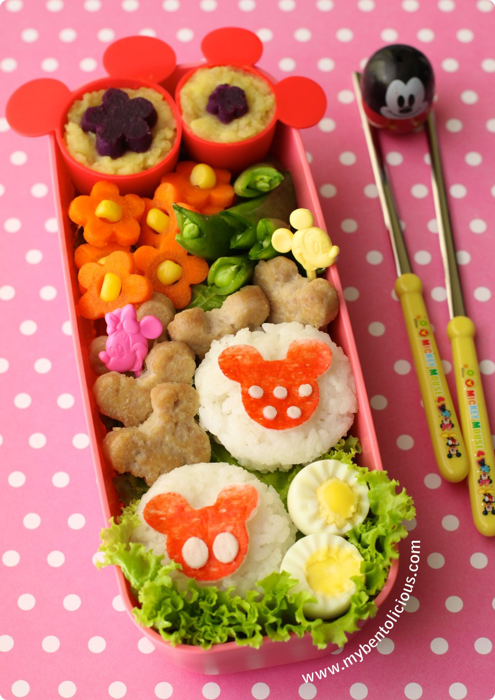 Mickey and Minnie Mouse Disney Bento Box