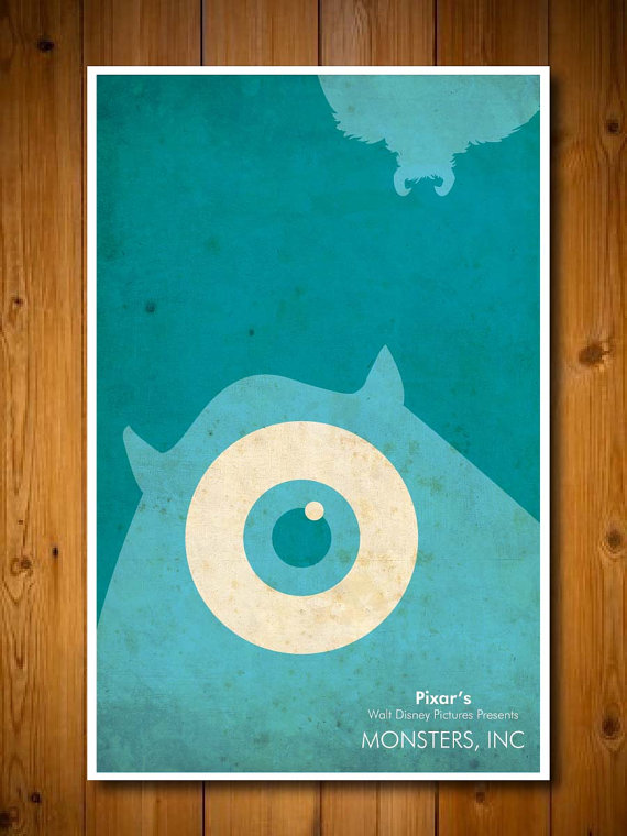 Minimalist Disney Pixar Poster Monsters Inc