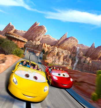 Radiator Springs Racers Cars land Disneyland