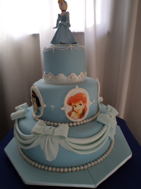 Three Tier Cinderella Princess Cake Ariel