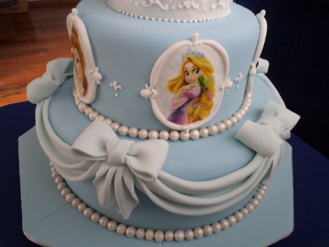 Three Tier Cinderella Princess Cake Rapunzel