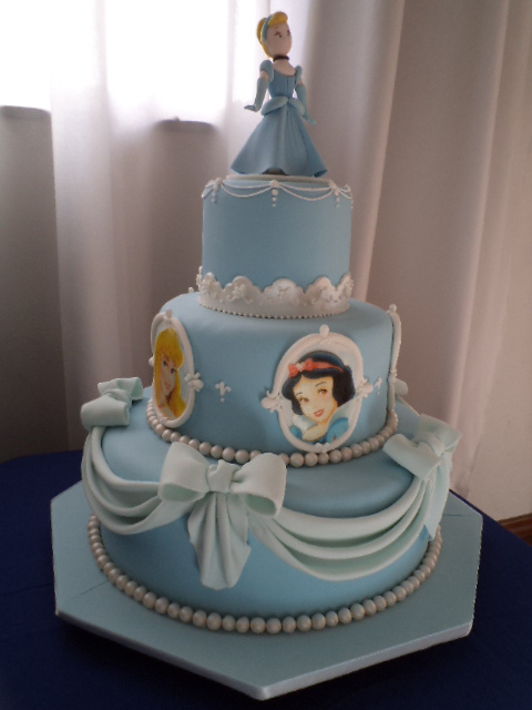Three Tier Disney Cinderella Princess Cake