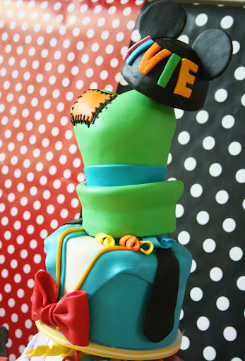 Topsy Turvey Six Layer Disney Character Birthday Cake Top