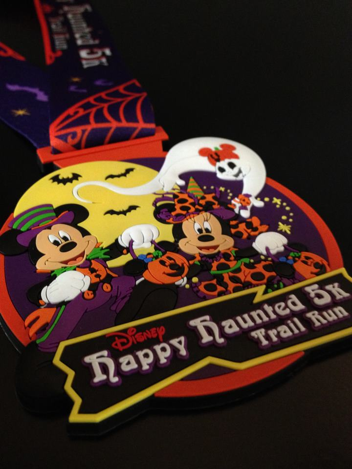2012 Disney Happy Haunted 5K Trail Run Medal