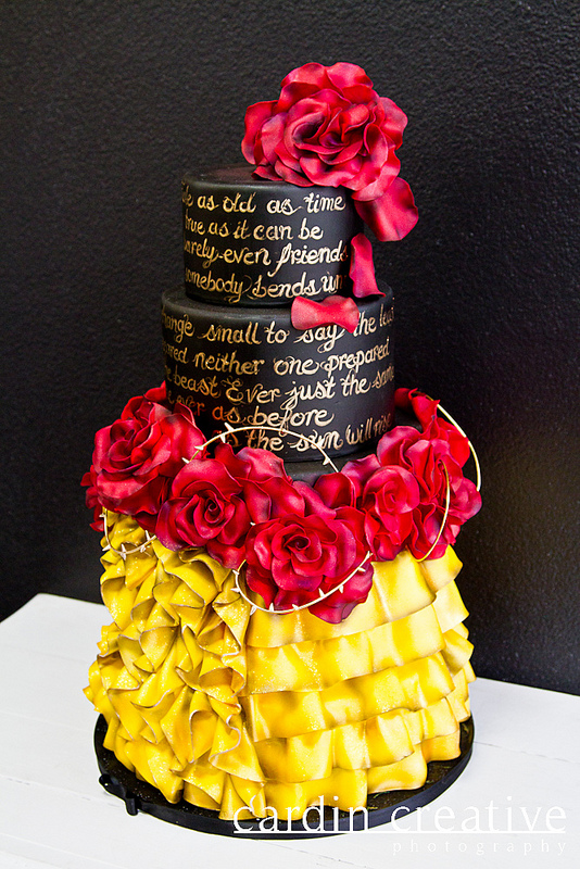 Beauty and the Beast Inspired Disney Wedding Cake
