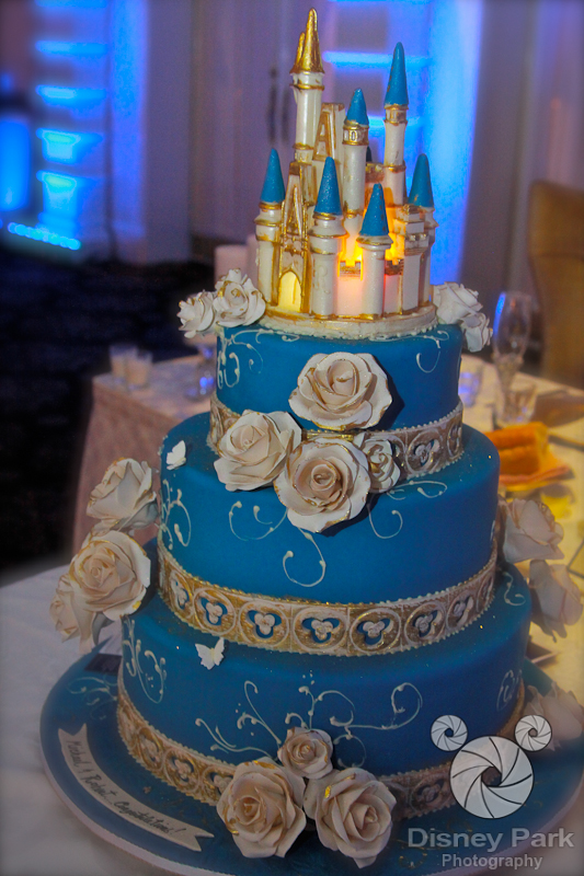 Cinderella Castle Inspired Disney Wedding Cake