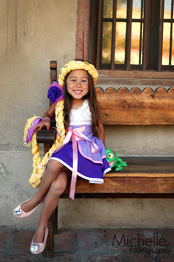 Custom Disney Tangled Rapunzel Dress Up Costume Hair