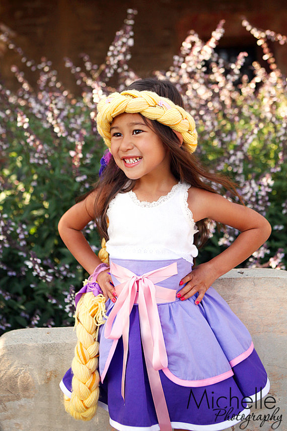 "Custom Disney ""Tangled"" Rapunzel Dress Up Costume"