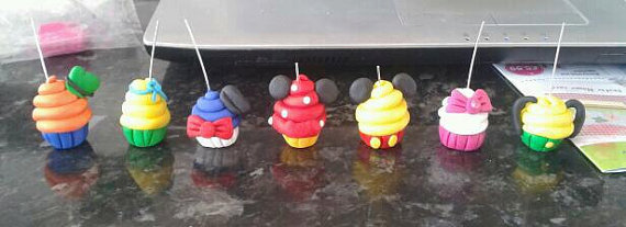 Disney Character Cupcake Charms
