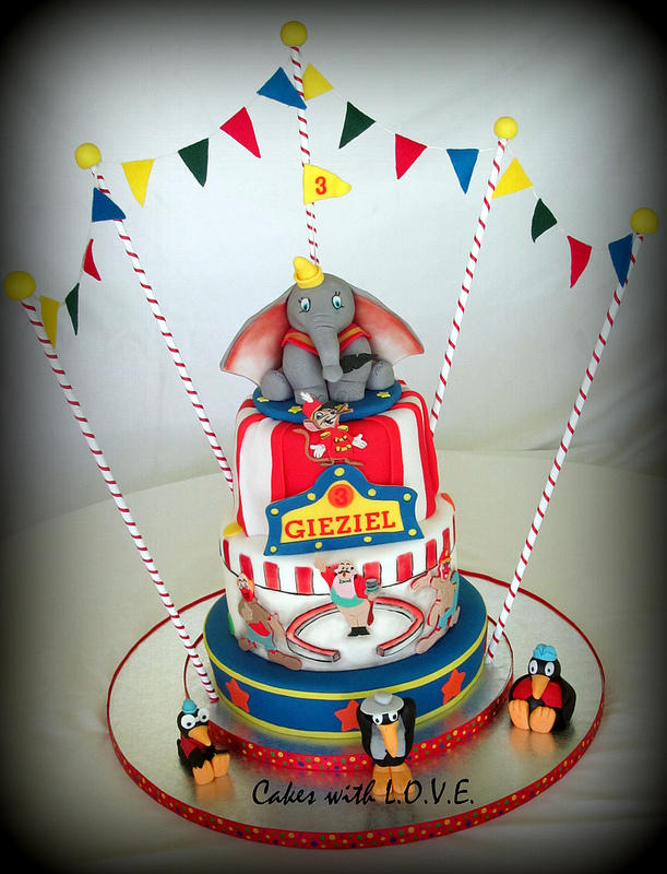 Miraculous Disney Dumbo Circus Birthday Cake Disney Every Day Personalised Birthday Cards Veneteletsinfo
