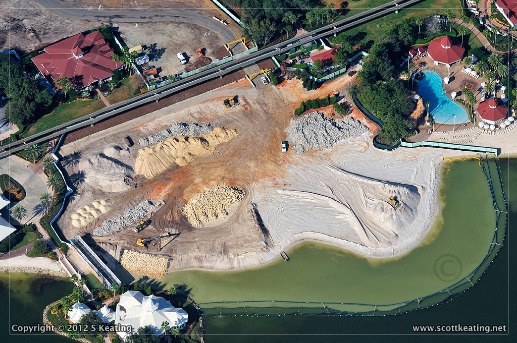 Disney Grand Floridian DVC Construction Aerial Photograph January 2012