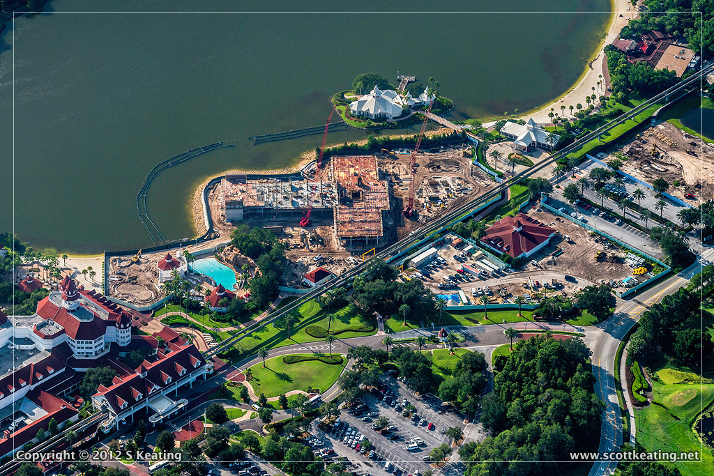 Disney Grand Floridian DVC Construction Aerial Photograph Lake