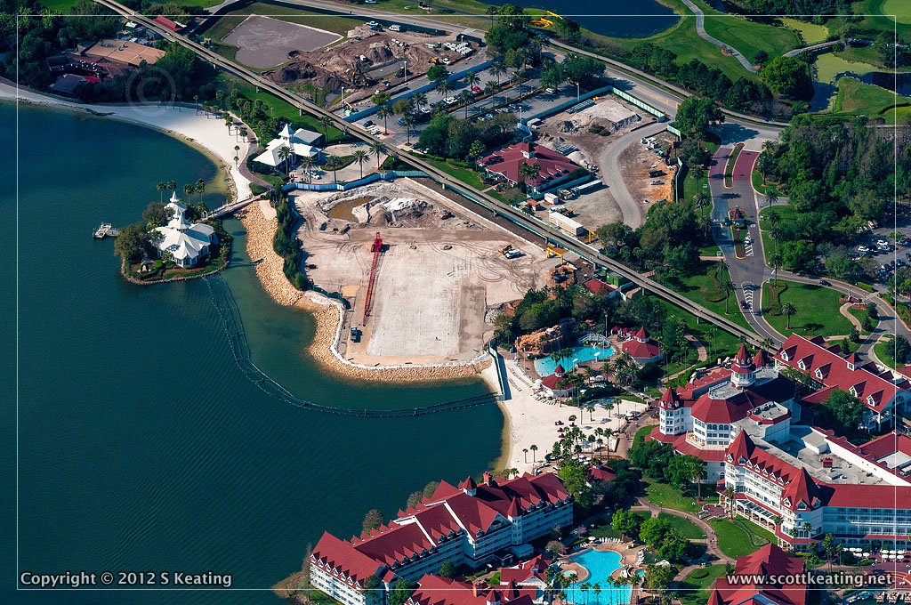 Disney Grand Floridian DVC Construction Aerial Photograph March 2012