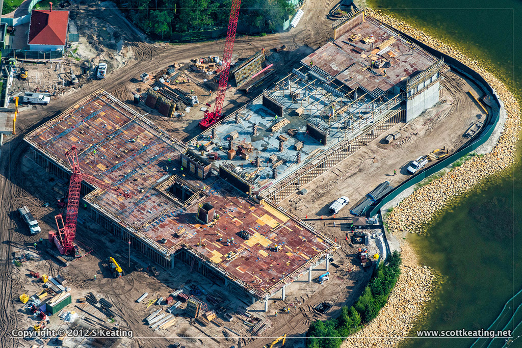 Aerial View of the DVC Expansion Construction at Disney's Grand Floridian Resort