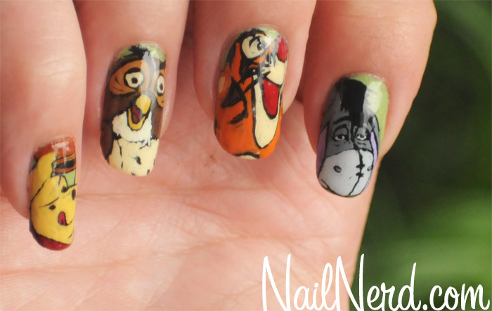 Disney Hundred Acre Woods Winnie the Pooh Manicure