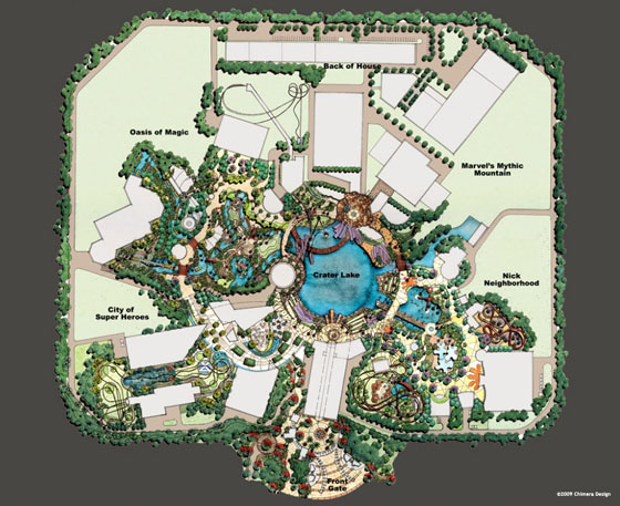 Disney Marvel Adventure Theme Park Map