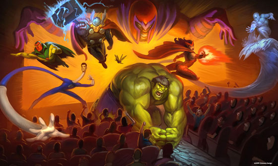 Disney Marvel Adventure Theme Park stage Show