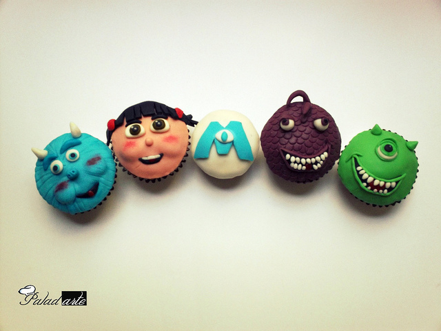 Disney Monsters Inc Cupcakes