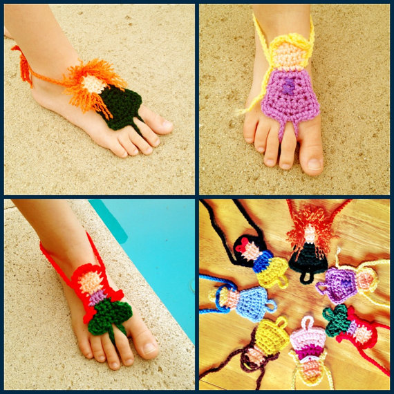 Disney Princess Barefoot Sandals