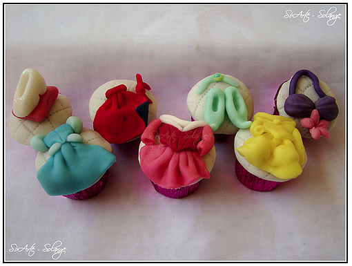 Disney Princess Fashion Cupcakes