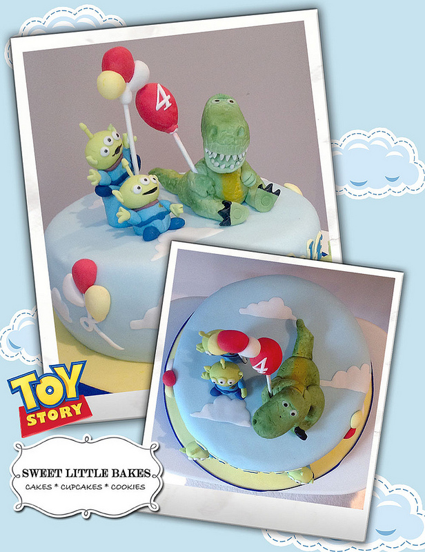 Disney Rex and Little Green Men Toy Story Birthday Cake
