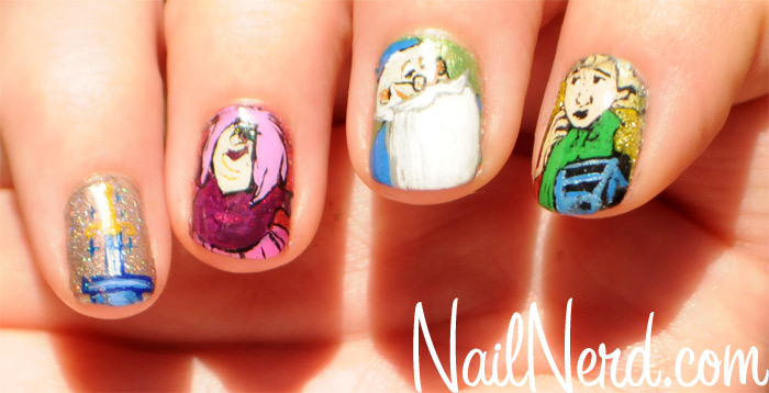 Disney Sword in the Stone Manicure