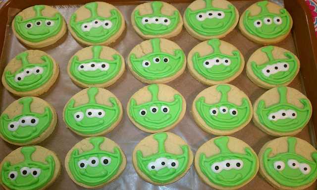 Disney Toy Story Alien Cookies