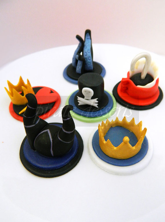 Disney Villains Edible Cupcake Toppers