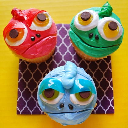 Disney's Tangled Pascal Chameleon Cupcakes