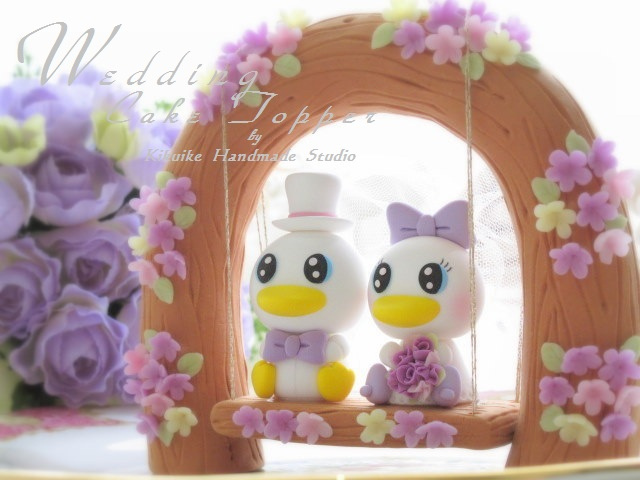 Donald and Daisy Duck Disney Wedding Cake Topper