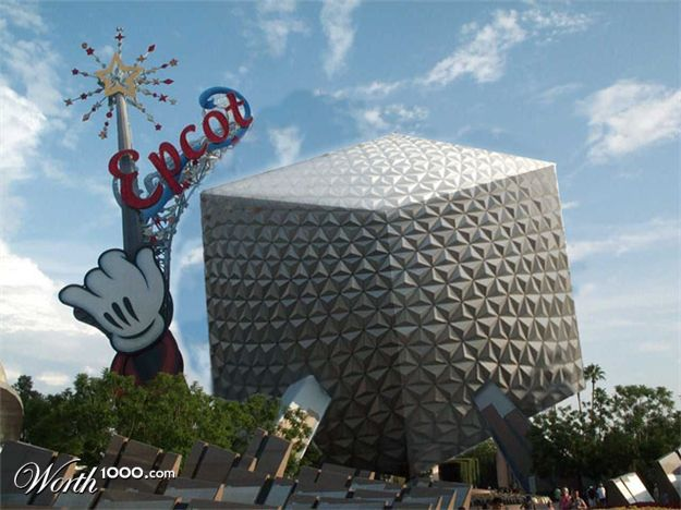 If Epcot's Spaceship Earth Was Square Instead of Round