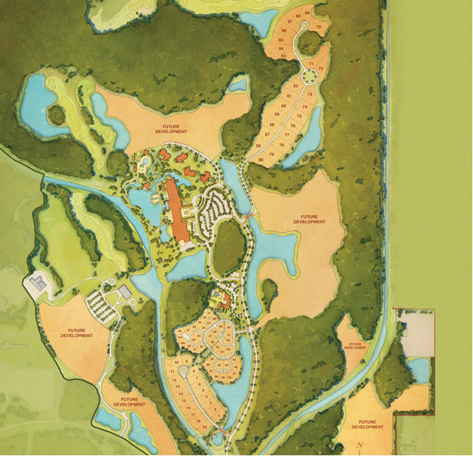 Disney's Golden Oak Residential Community Aerial Site Map