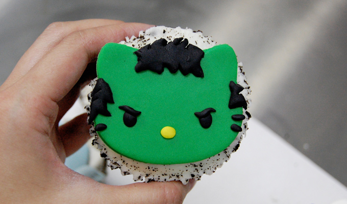 HULK Hello Kitty Avengers Cupcake