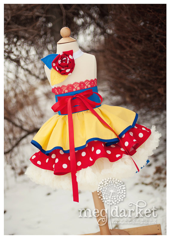 Hand Made Snow White Disney Half Dress Up Apron