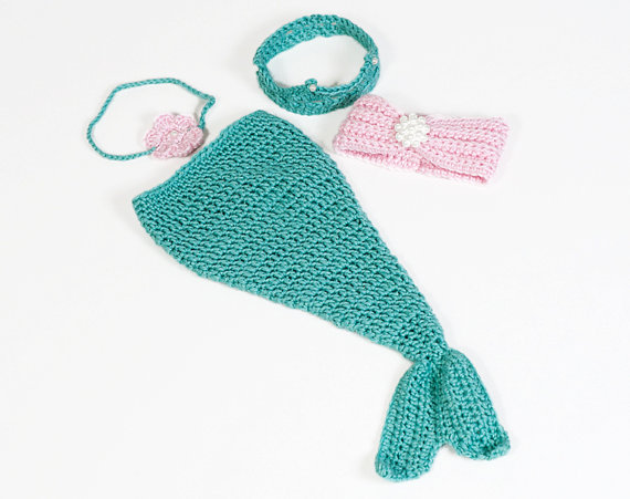 Infant Little Mermaid Photo Shoot Costume Knit