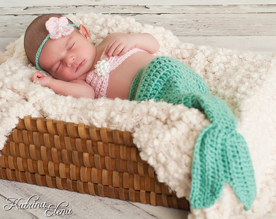 Infant Little Mermaid Photo Shoot Costume