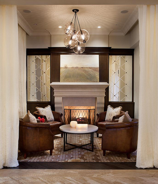 Issa Homes Golden Oak Casa di Lusso Model Home - Fireplace