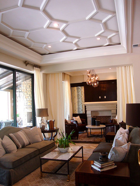 Issa Homes Golden Oak Casa di Lusso Model Home - Living Room