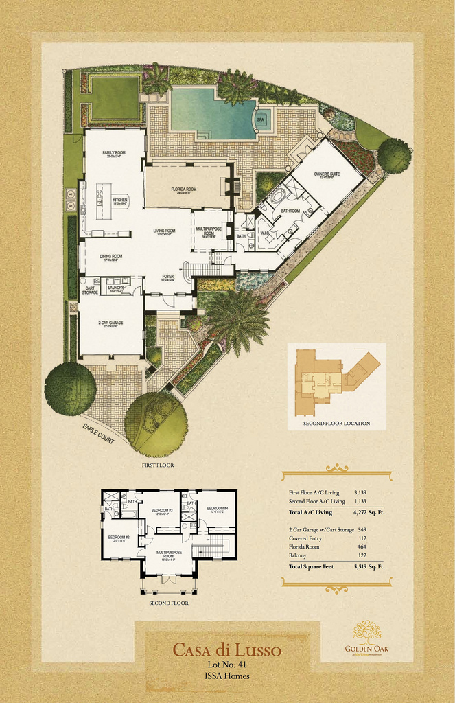 Issa Homes Golden Oak Casa di Lusso Model Home - blueprint
