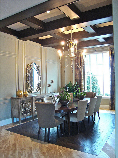 Stunning photo tour of issa homes casa di lusso at for Model home dining room