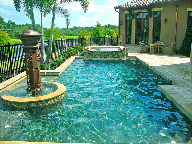Issa Homes Golden Oak Casa di Lusso Model Home - pool