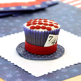 Disney's Alice in Wonderland Mad Hatter 4th of July Cupcake
