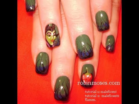 Maleficent Nail Art Tutorial Video