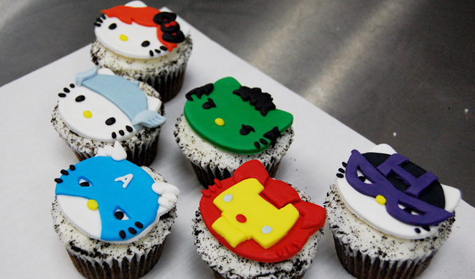 Marvel's The Avengers Hello Kitty Cupcake MashUp