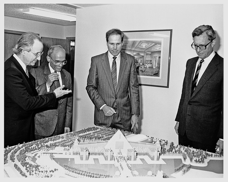 Michael Graves John Tishman Michael Eisner and Frank Wells Disney Swan and Dolphin