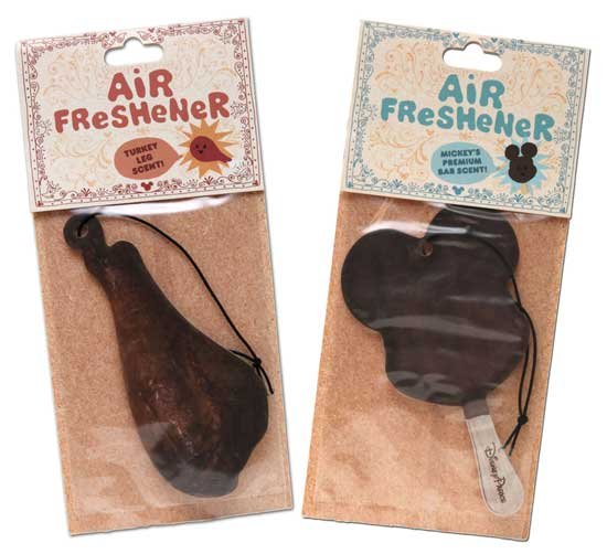 Mickey Ice Cream Bar and Turkey Leg Air Fresheners