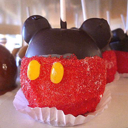 Mickey Mouse Candy Apple