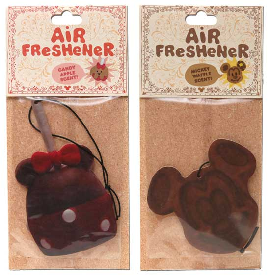 Mickey Waffle and Candy Apple Air Fresheners